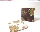 Holiday Flourish Gift Card Holder Mini Wallet Credit Card Pouch