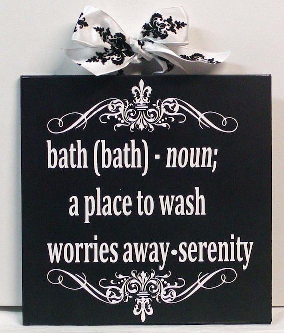 Damask and Fleur de Lis Bathroom Wall Art Definition Of Bath