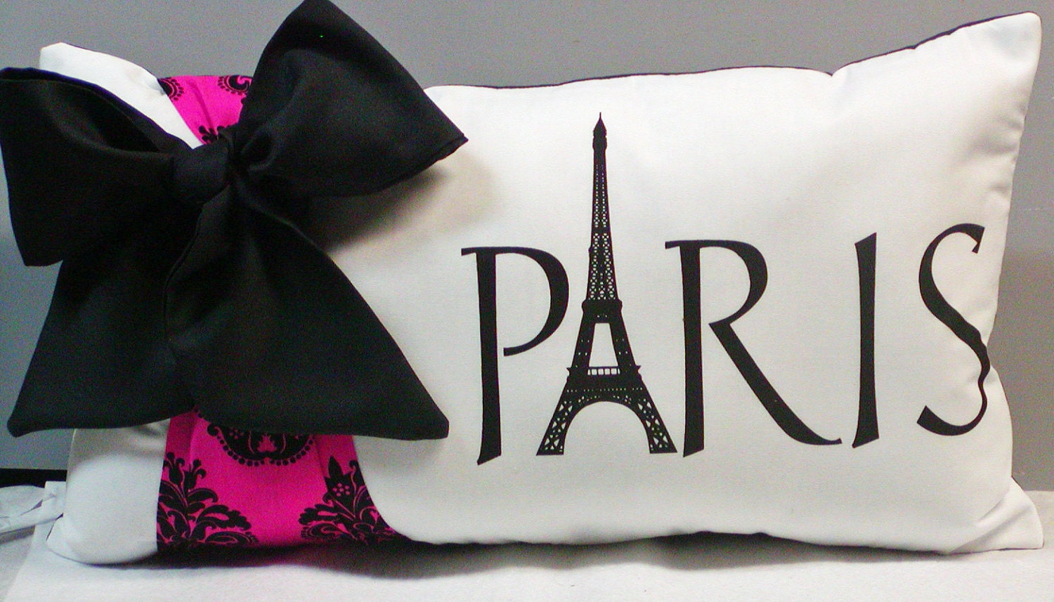 Paris Stuff For A Bedroom French Damask Paris Eiffel Tower Throw Pillow Bow