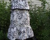 HANDMADE HIPPIE PATCHWORK BUTTERFLIES BLOOMER PANT AND DRESS TOP SET
