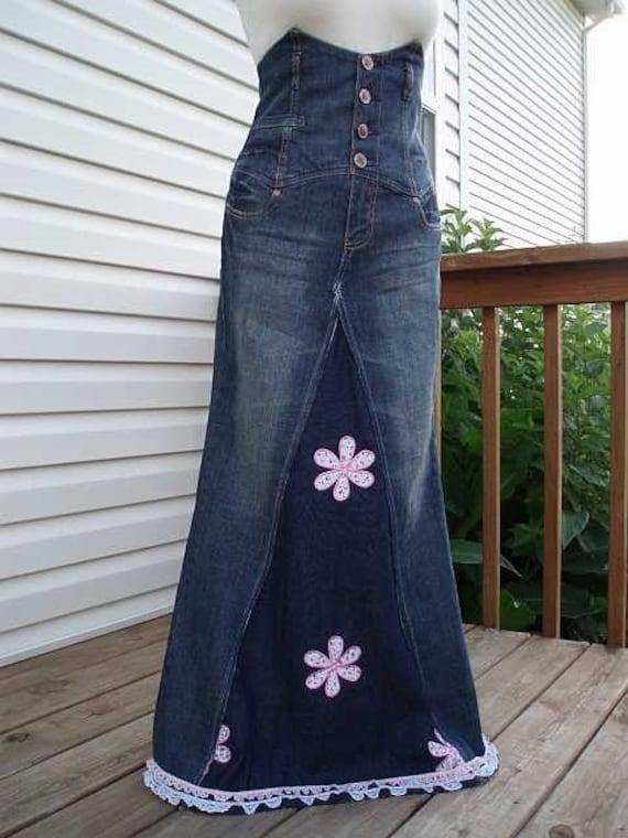 sale high waist jumper denim jean skirt