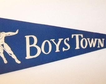 Boys Town pennant vintage