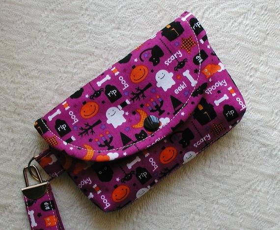 Halloween Wristlet ... Trick or Treat Spooky in Purple