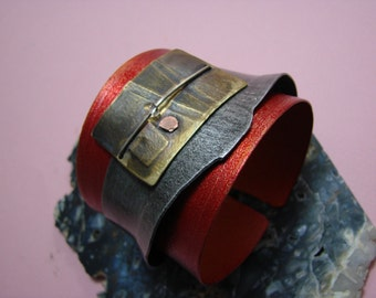 NEW  modern In Living Colour CUFF bracelet made by MODERNART999 Canada