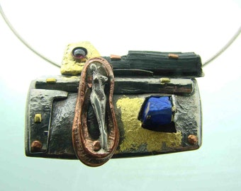 INFINITY titanium Pendant hand made  Cnada