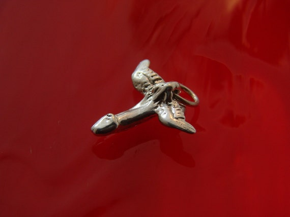 Erotic Fly Penis Pendant in sterling silver