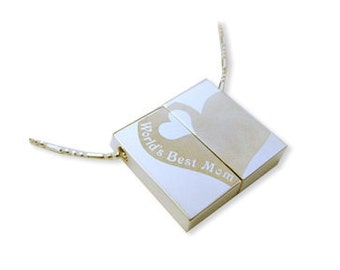 Best mom Mother's day Wish Locket  -necklace pendant Engraved heart-Personalized Option
