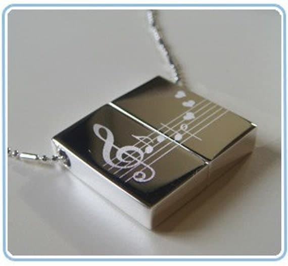 Wish Locket - Music lover / Music notes necklace/for ashb143