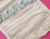 Antique Lace Vintage Lace Tulle Filet Lace and Silk ON SALE