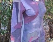 Hemp Fleece Scrap Jacket --Purple Mix