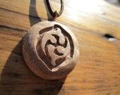 Unity Wooden Pendant- Carved in reclaimed birdseye maple burl