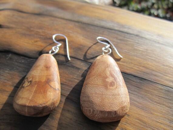 Maple Wood Earrings- Reclaimed Wood Earrings