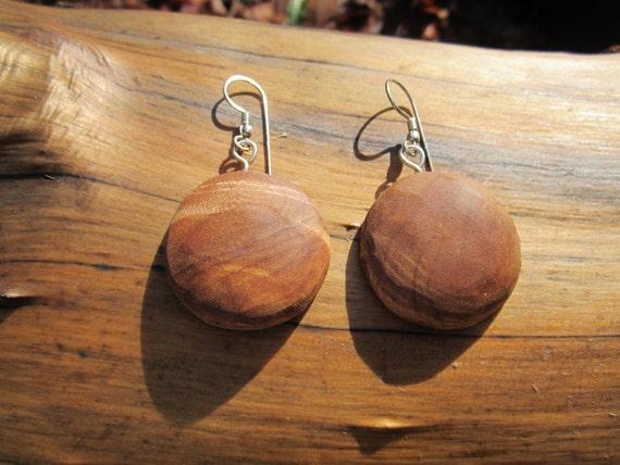SALE Round Birdseye Maple Wood Earrings- Reclaimed Wood Earrings BB7