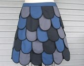 Reserved For Sarah Fishscale Miniskirt in grays and blue Sz 8