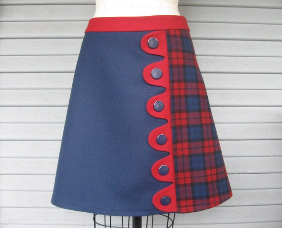 Easy A asymmetrical a-line skirt Sz 12