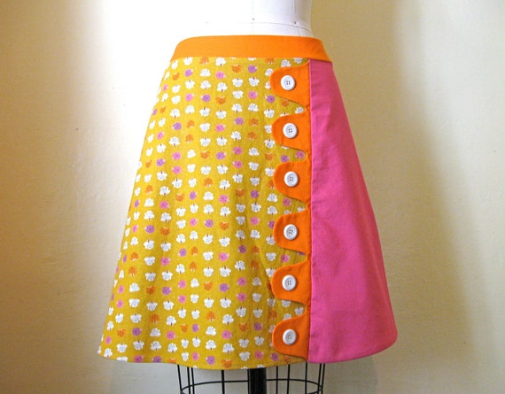 Reserved for Sarah You Are My Sunshine a-line skirt