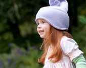 Any infant toddler or kid size - sweet LILAC swirlyhat.
