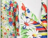 Vintage Colorful 1970's Flower Blouse by Brief Originals, vestiesteam