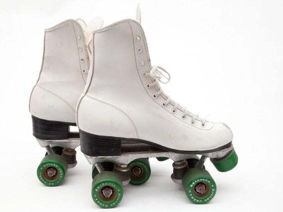 Green and White Vintage Roller Skates