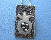 Sterling Silver Pomegranate Pendant