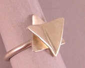 Butterfly Star of David Ring in Sterling