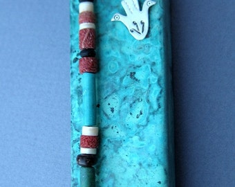 Copper Mezuzah Santa Fe Style Handcrafted by Ruth Shapiro