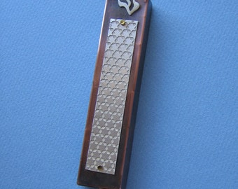Starry Skies Mezuzah (Silver/Copper)