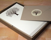 Recycled Oak Tree Stationery Set with Stickers, 30 Sheets with Envelopes, Recycled Stationery