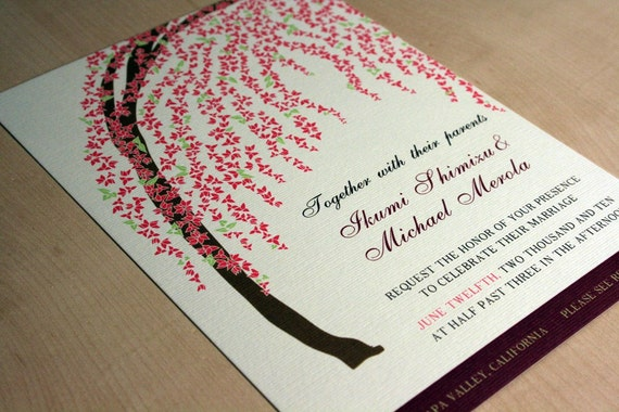 Flowering Arch Wedding Invitations, Buy this Deposit to Get Started