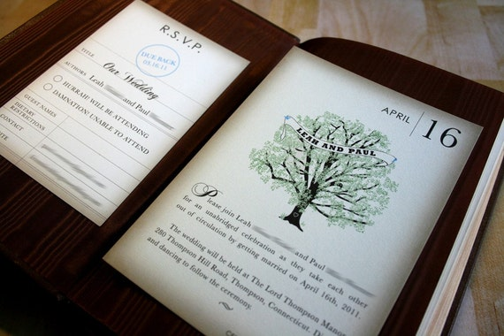 book wedding invitations – fleeciness, Wedding invitations