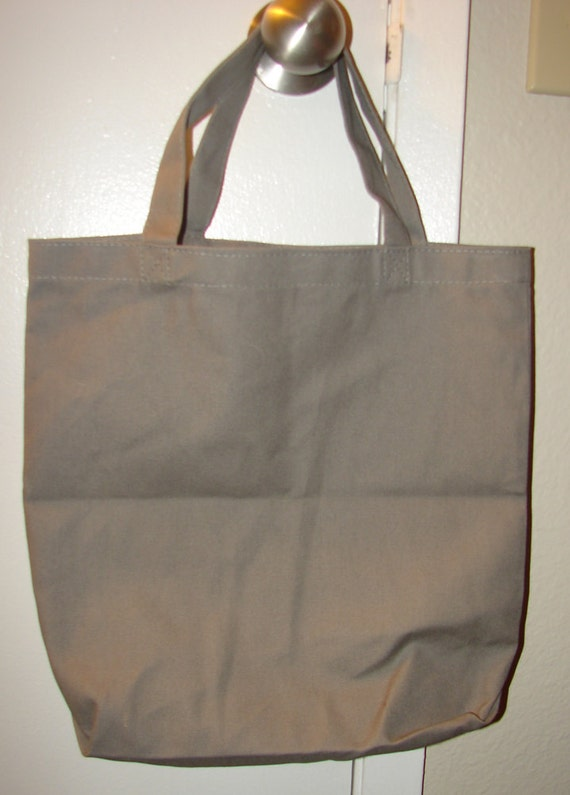 FREE SHIPPING Smoke Gray Blank Cotton Tote Bag