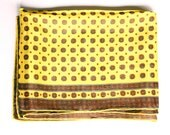 Vintage Oblong Scarf - Yellow & Brown Pattern