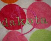 Personalized Beach Towel - polka dot