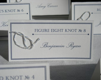 Tie the Knot: Nautical Place Cards