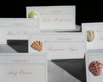 Shell We Say I Do... Sanibel Shell Wedding Place Cards