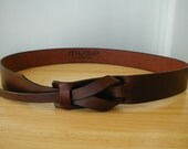 A Taste of Chocolate Leather MUSE Belt  width 1 1/4 inches FREE SHIPPING