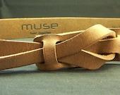 Safari Brown Muse Belt 1-1/4 inch Nickel Free Free Shipping