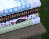 studio sale  - Anika Monaluna 1/4 yard  - fat quarter bundle - set of 4 prints - organic cotton OOP - LAST ONE
