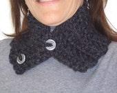 Dark Grey Crochet Neck Collar