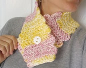 Yellow and Pink Marbley Neckwarmer