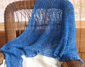 Blue Lagoon- Knitted Shawl FREE SHIPPING