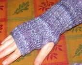 Lady Violet- Knitted Fingerless Gloves