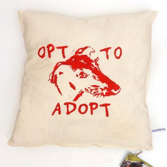 Greyhound adoption cushion cover - HALF PRICE