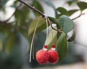 Cherry earrings. Free shipping