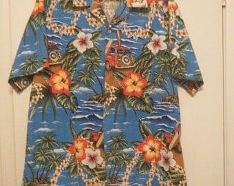 Men's Rainbow Hawaii, Inc  Hawaiian Shirt 2XL