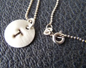 Initially Stated- Personalized Hand Stamped Sterling Necklace and Pendant