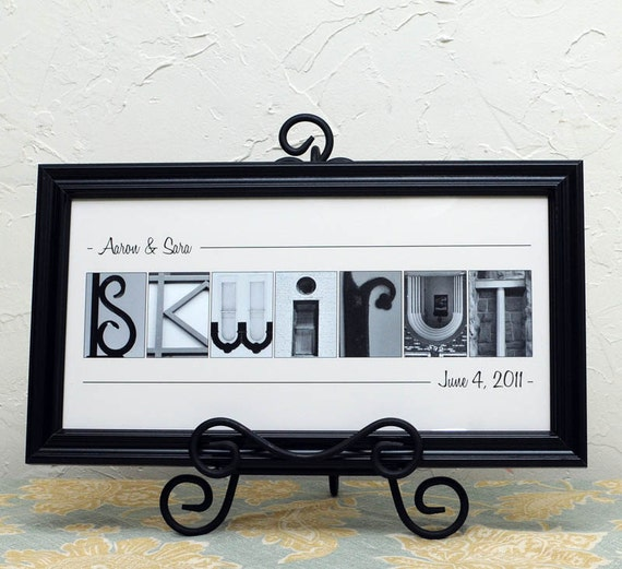 Wedding Gift Alphabet Art : Alphabet Art Photos , Wedding Gift , Personalized Frame Alphabet ...