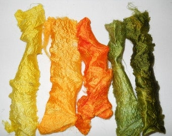 Marigolds 5pc Silk Carrier Rods Hand-Dyed