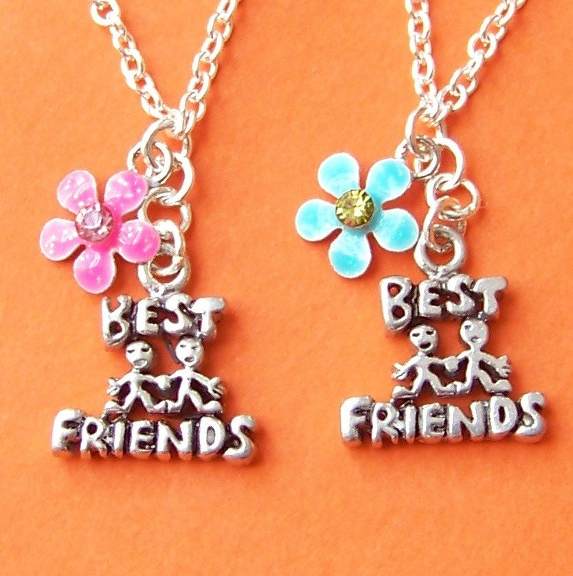 best friends forever bff charm necklace set by