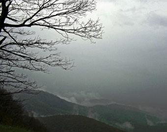 Blue Ridge Mountains in Virginia Mist 4x6 Landscape Photography Print
